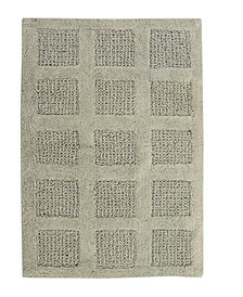 Square Honeycomb 20x30 Cotton Bath Rug