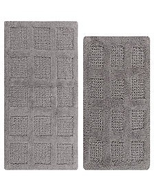 Square Honeycomb 2 Pc Cotton Bath Rug Set