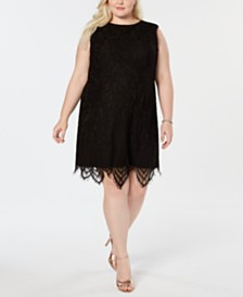 Betsey Johnson Plus Size Lace Sheath Dress
