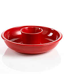 Fiesta Scarlet Chip and Dip Set