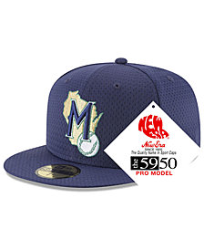 New Era Milwaukee Brewers Retro Classic Batting Practice 59FIFTY Fitted Cap