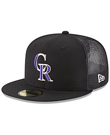 Colorado Rockies On-Field Mesh Back 59FIFTY Fitted Cap