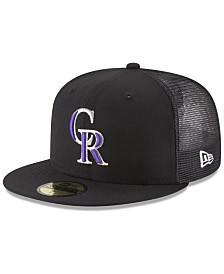 New Era Colorado Rockies On-Field Mesh Back 59FIFTY Fitted Cap
