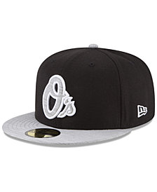 New Era Baltimore Orioles Black Heather Coop 59FIFTY Fitted Cap
