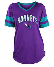 5th & Ocean Women's Charlotte Hornets Mesh T-Shirt