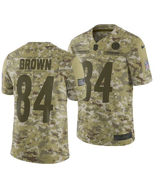 on sale aa6e9 8c660 Men's Antonio Brown Pittsburgh Steelers Salute To Service Jersey 2018