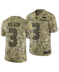 Nike Men's Russell Wilson Seattle Seahawks Salute To Service Jersey 2018