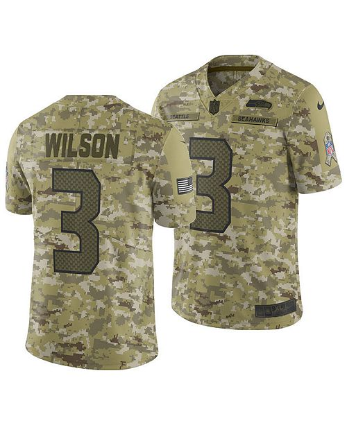 e43ff3557 Nike Men s Russell Wilson Seattle Seahawks Salute To Service Jersey 2018 -  Sports Fan Shop By Lids - Men - Macy s