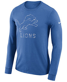 Nike Men's Detroit Lions Dri-FIT Cotton Seismic Long Sleeve T-Shirt