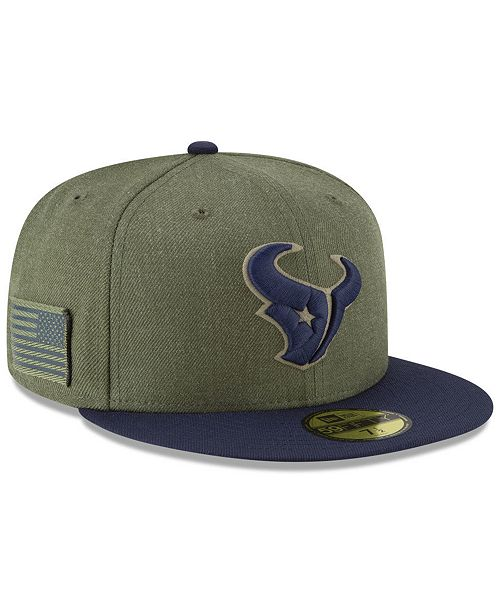New Era Houston Texans Salute To Service 59FIFTY FITTED Cap - Sports ... 91f63524d