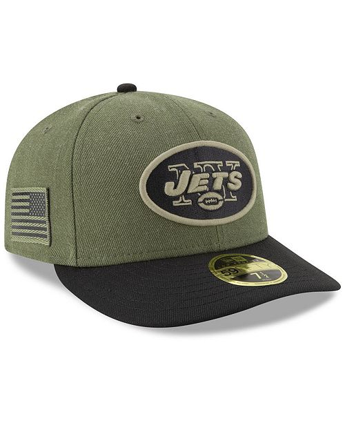 best sneakers 88fd6 d297b ... New Era New York Jets Salute To Service Low Profile 59FIFTY Fitted Cap  2018 ...