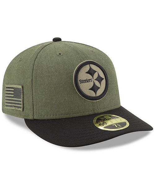 ... New Era Pittsburgh Steelers Salute To Service Low Profile 59FIFTY  Fitted Cap 2018 ... b4b401cf3a1
