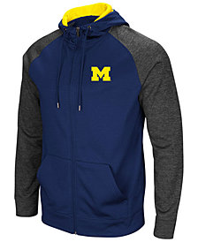Colosseum Men's Michigan Wolverines Magic Rays Full-Zip Hooded Sweatshirt