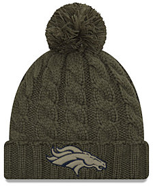 New Era Women's Denver Broncos Salute To Service Pom Knit Hat