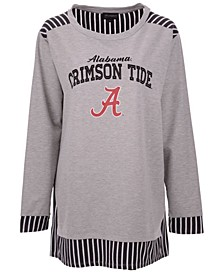 Women's Alabama Crimson Tide Striped Panel Long Sleeve T-Shirt
