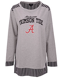 Gameday Couture Women's Alabama Crimson Tide Striped Panel Long Sleeve T-Shirt