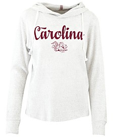 Pressbox Women's South Carolina Gamecocks Cuddle Knit Hooded Sweatshirt