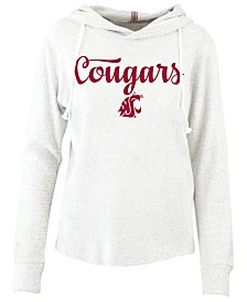 Pressbox Women's Washington State Cougars Cuddle Knit Hooded Sweatshirt