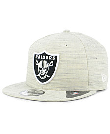 New Era Oakland Raiders Luxe Gray 9FIFTY Snapback Cap