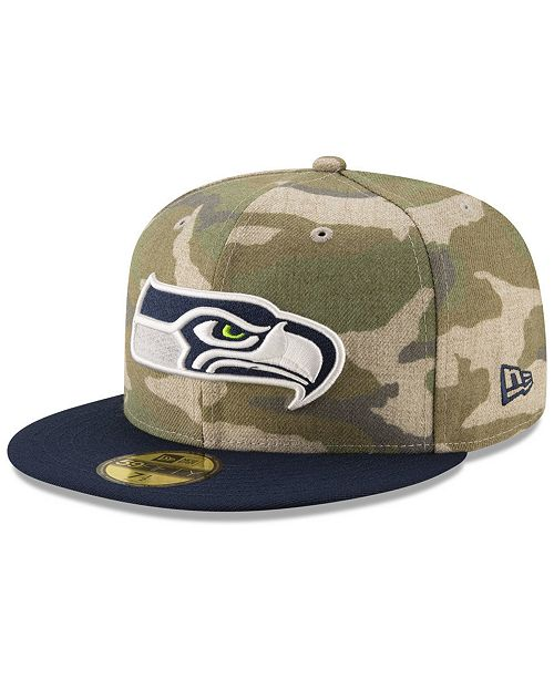 90951ec97d67b New Era Seattle Seahawks Vintage Camo 59FIFTY FITTED Cap   Reviews ...