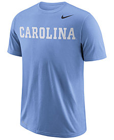 Nike Men's North Carolina Tar Heels Dri-FIT Cotton Wordmark T-Shirt