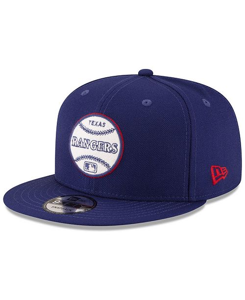 best sneakers b4d30 0233f ... New Era Texas Rangers Vintage Circle 9FIFTY Snapback Cap ...