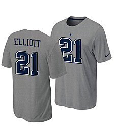 Nike Men's Ezekiel Elliott Dallas Cowboys Pride Name and Number Wordmark T-Shirt