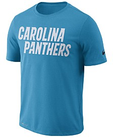 Nike Men's Carolina Panthers Dri-FIT Cotton Essential Wordmark T-Shirt