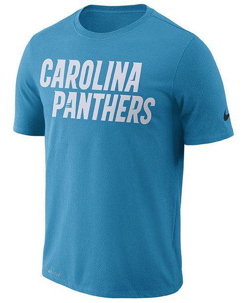 30badb58f ... Nike Men's Carolina Panthers Dri-FIT Cotton Essential Wordmark T-Shirt  ...