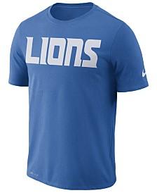 Nike Men's Detroit Lions Dri-FIT Cotton Essential Wordmark T-Shirt