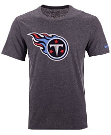 Nike Men's Tennessee Titans Dri-Fit Cotton Essential Logo T-Shirt