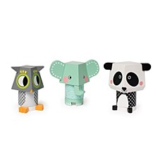 Manhattan Toy Mix And Match Magnetic Stackers Panda, Owl, Elephant