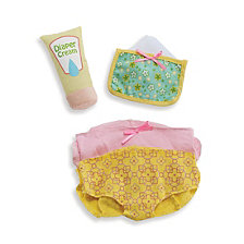 Manhattan Toy Wee Baby Stella Diaper Changing And Feeding Set Baby Doll Accessories