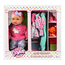 Dream Collection 14 Inch My Lil Wardrobe Baby Doll Set