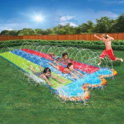 Banzai Kids Triple Racer Water Slide 16 Feet Long
