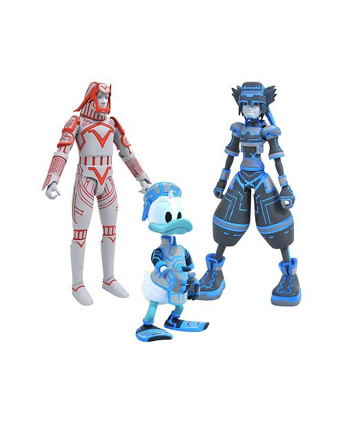 Diamond Select Toys Kingdom Hearts Select Series 3 Sp Sora, Donald And Sark Action Figures