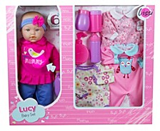 Lissi 15 Inch Baby Doll Set With Extra Clothes And Accessories
