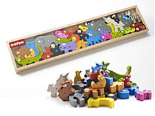 Beginagain Toys Animal Parade A To Z Wooden Puzzle