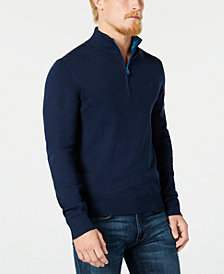 Calvin Klein Men's Quarter-Zip Sweater