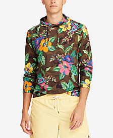 Polo Ralph Lauren Men's Big & Tall Floral-Print Long-Sleeve Hooded T-Shirt