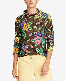 Polo Ralph Lauren Men's Big & Tall Floral-Print Long-Sleeve Hooded T-Shirt