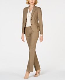 Anne Klein Plaid Pantsuit