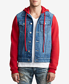 True Religion Men's Fleece Denim Jacket