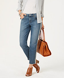 Style & Co Double Stripe Raw-Hem Jeans, Created for Macy's