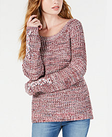 American Rag Juniors' Marled Open-Back Sweater, Created for Macy's