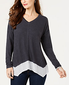 Style & Co Layered-Look Top, Created for Macy's