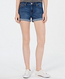 Juniors' Cuffed Denim Shorts