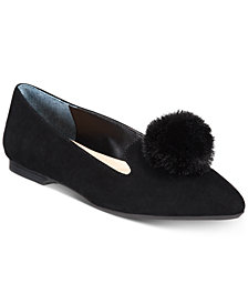 Alfani Women's Poee Step 'N Flex Smoking Flats, Created For Macy's