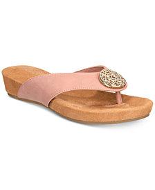 Giani Bernini Ronnah Memory-Foam Sandals, Created for Macy's