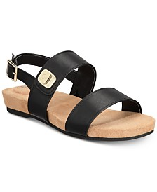 Giani Bernini Ramonaa Memory Foam Footbed Sandals, Created for Macy's
